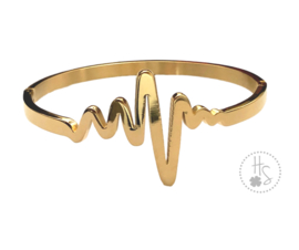 Bangle hartbeat goud