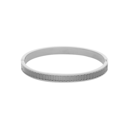 Bangle rasterline zilver