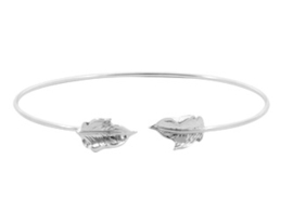 Bangle leaf zilver
