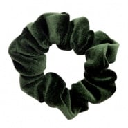 SCRUNCHIE HAARELASTIEK - /	VELVET GREEN