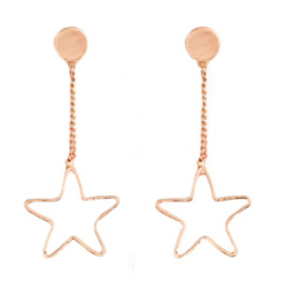 EARRINGS STAR - / ROSÉ GOUD