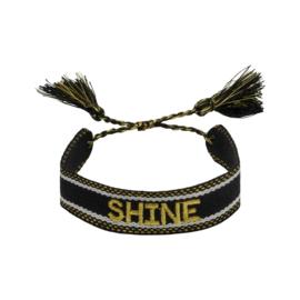 Trendy armband shine zwart