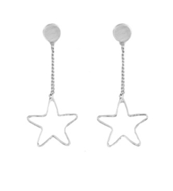 EARRINGS STAR - / ZILVER