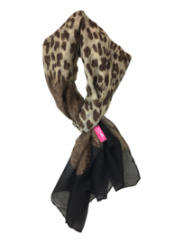 SHAWL LEOPARD - / BLACK