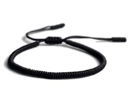 Tibetaanse geluksarmband zwart