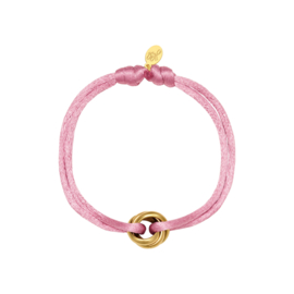 Armband van satijn roze