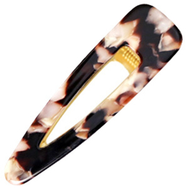 HAARCLIP RESIN XL - / BROWN PINK GOLD