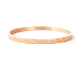 Bangle zebra print small rosé goud