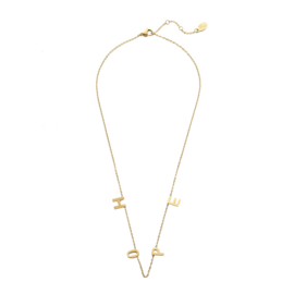 QUOTE NECKLACE HOPE - / GOLD