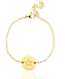 BRACELET CHARM STAR - / GOLD