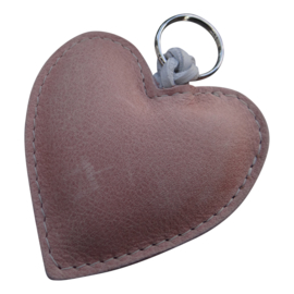 LEATHER HEART XL - / AMBER