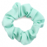 SCRUNCHIE HAARELASTIEK - /	AQUA GREEN