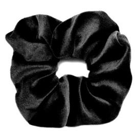 Scrunchies Haarelastiek  Velvet Zwart