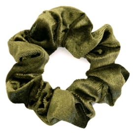 SCRUNCHIE HAARELASTIEK - /	MOSS GREEN