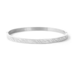 Bangle zebra print small zilver