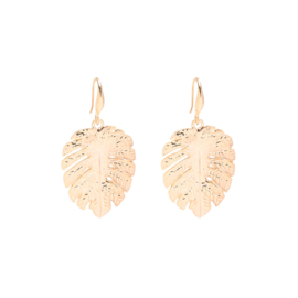 EARRINGS LEAF - / GOLD