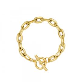 Armband grove schakels goud