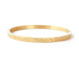 Bangle zebra print small goud