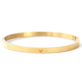 Bangle hart goud