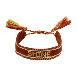 Trendy armband shine bruin