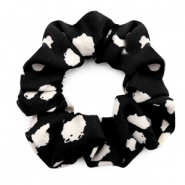 SCRUNCHIE HAARELASTIEK - /	DOTS PRINT BLACK
