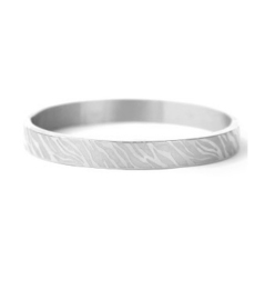 Bangle zebra print breed zilver
