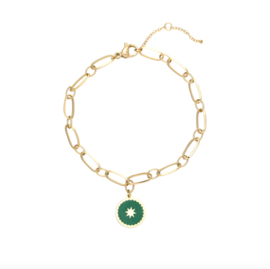 ARMBAND CHAIN AWAY - / GROEN GOUD