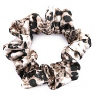 SCRUNCHIE HAARELASTIEK - /	SNAKE PRINT BROWN