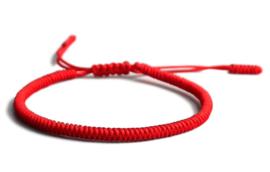 Tibetaanse geluksarmband rood