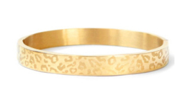Bangle panter print breed goud