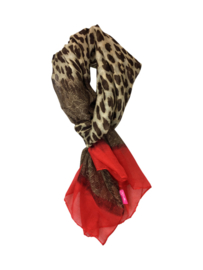 SHAWL LEOPARD - / RED