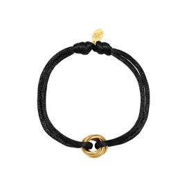 Armband van satijn zwart