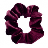 SCRUNCHIE HAARELASTIEK - /	VELVET DEEP PORT RED