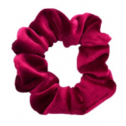 SCRUNCHIE HAARELASTIEK - /	VELVET DEEP RED