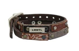 LMNTL - Lederen armband heavy studs bruin