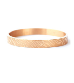 Bangle zebra print breed rosé goud