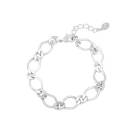 Armband Chuncky Chain Zilver