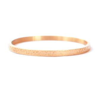 LEOPARD PRINT BANGLE SMALL - / ROSÉ GOLD