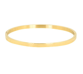 BASIC BANGLE SMALL - / GOLD SIZE L