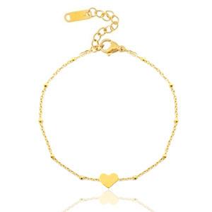 armbanden jasseron heart Goud (RVS)
