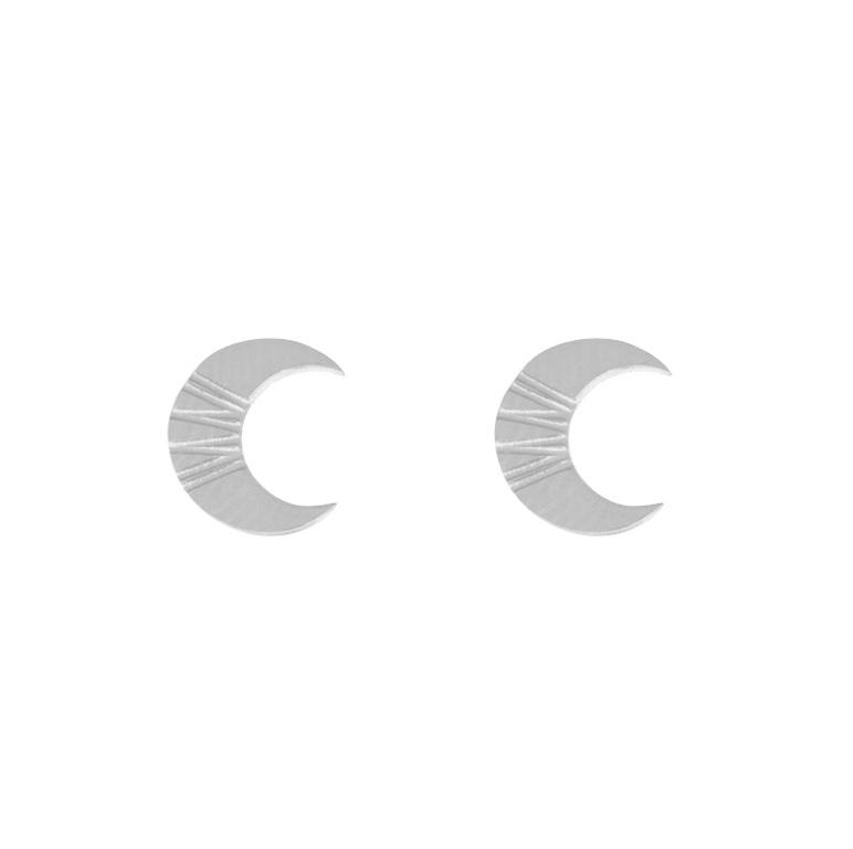 OORBELLEN CRISPY CROISSANT - / ZILVER