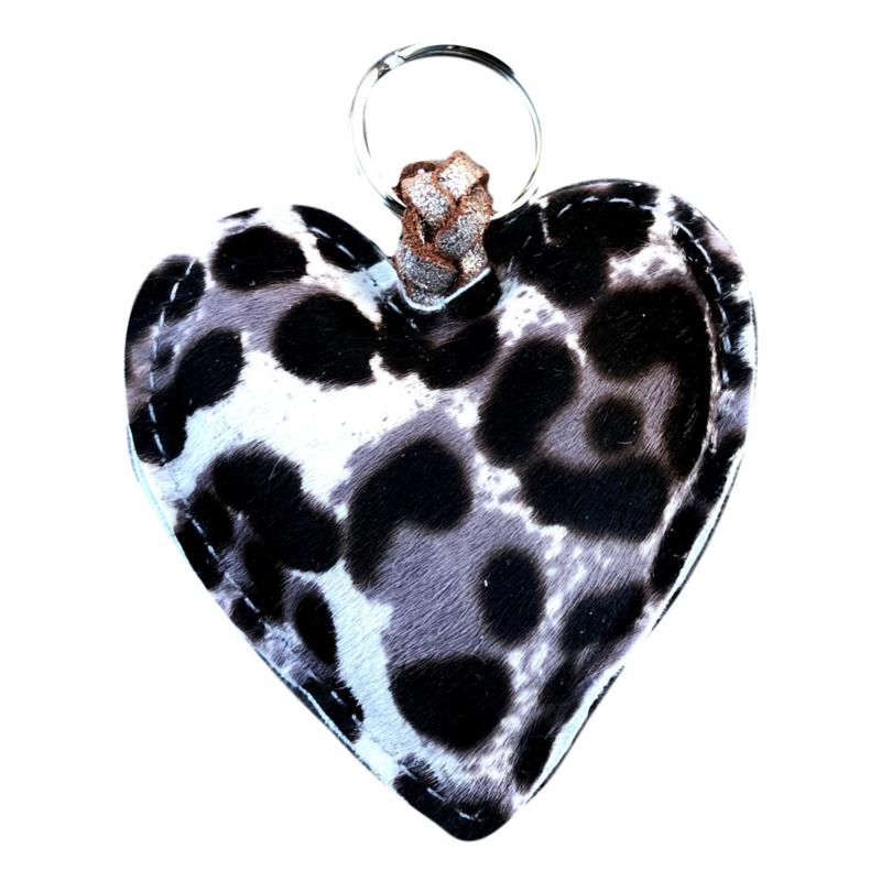 LEATHER HEART XL - / IRIS