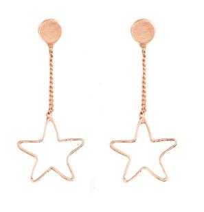 EARRINGS STAR - / ROSÉ GOUD