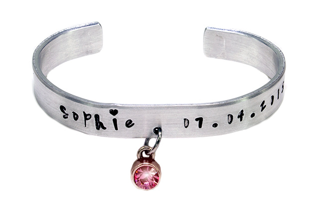 HS BRACELET WITH CHRYSTAL CHARM - MEDIUM