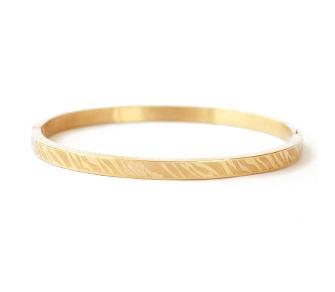 ZEBRA PRINT BANGLE SMALL - / GOLD