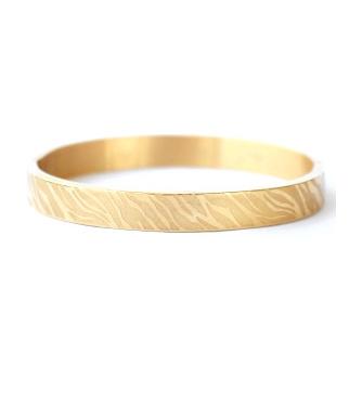 ZEBRA PRINT BANGLE LARGE - / GOLD