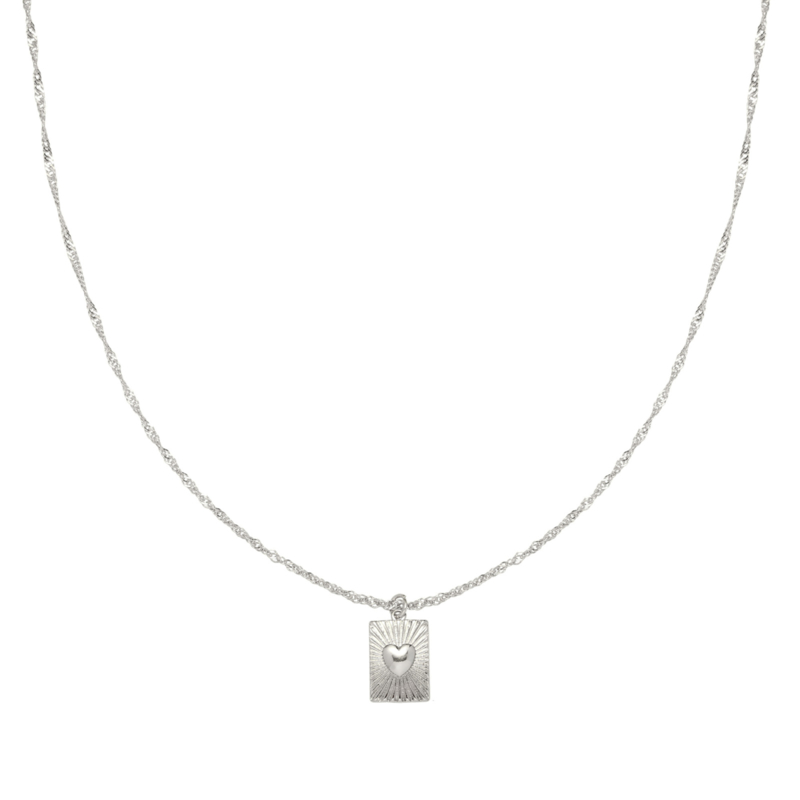 KETTING SHOW ME LOVE -/ ZILVER