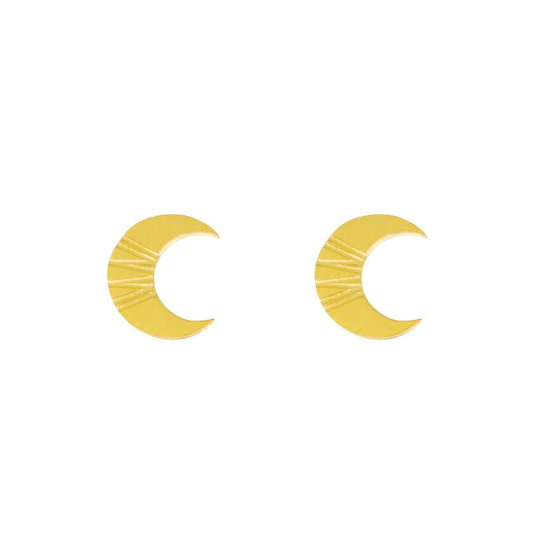 OORBELLEN CRISPY CROISSANT - / GOUD