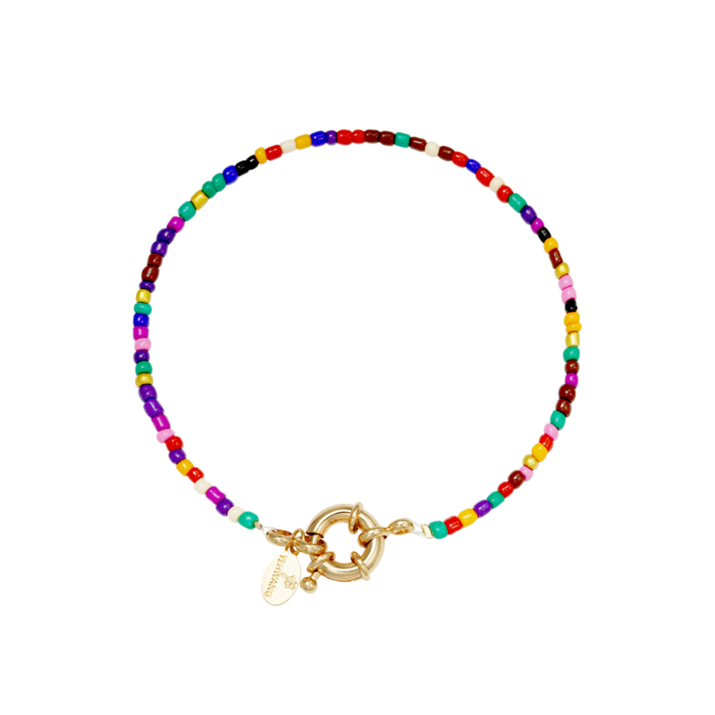 Kralen armband regenboog