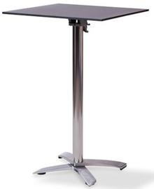 11002 + 1077 - X Cross high alu zwart tafelblad met een aluminium onderstel opklapbaar